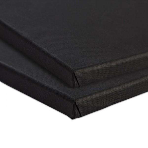 Keilrahmen 40x50cm schwarz Baumwolle, ca. 380g/m²