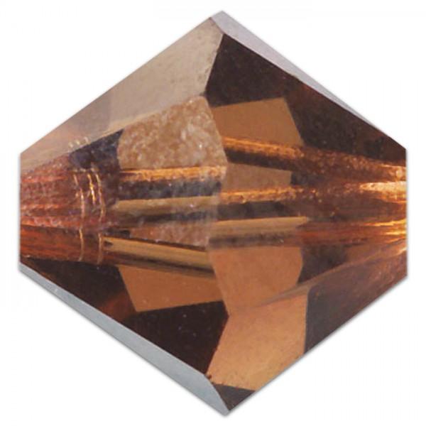 Glasschliffperlen 6mm 12 St. smoked topas Swarovski, Lochgr. ca. 0,9mm