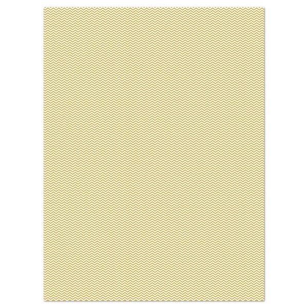 Decoupagepapier Texture Zackenborte creme/gold von Décopatch, 30x40cm, mit Metalliceffekt