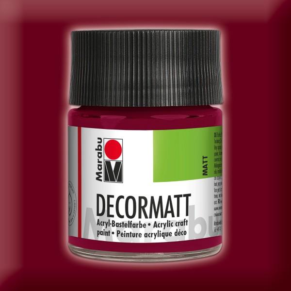 Decorlack Acryl matt 50ml bordeaux