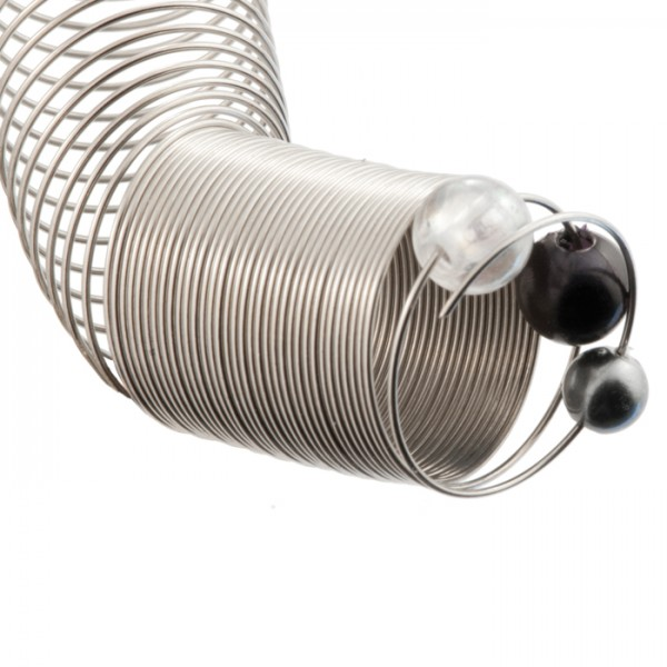 Fingerring-Spirale 0,7mm 30g ca. 70 Umdrehungen Edelstahl, platinfarben