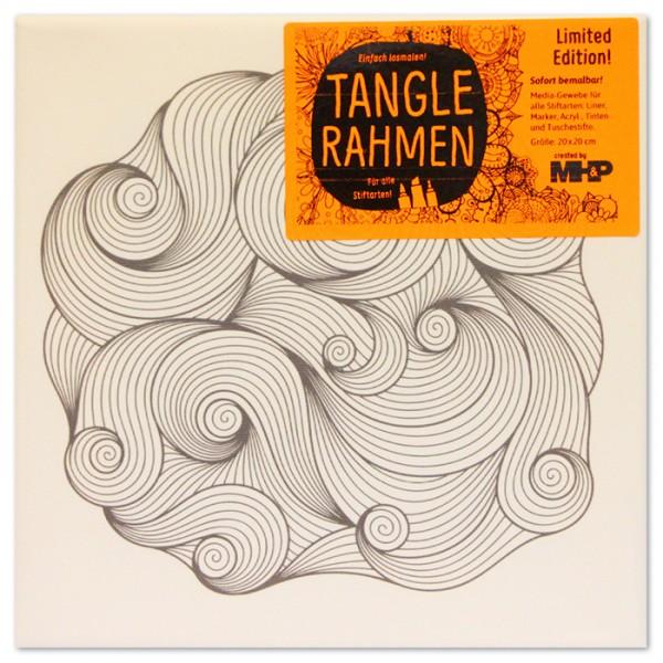 Tangle-Keilrahmen 20x20x2cm strudelnde Wellen