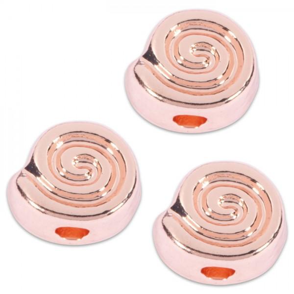 Metallperlen Spirale 10x6mm 6 St. roségoldfarben Lochgr. ca. 2,5mm