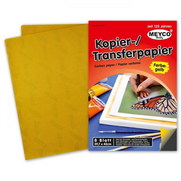 Kopier-/Transferpapier DIN A3 8 Bl. gelb