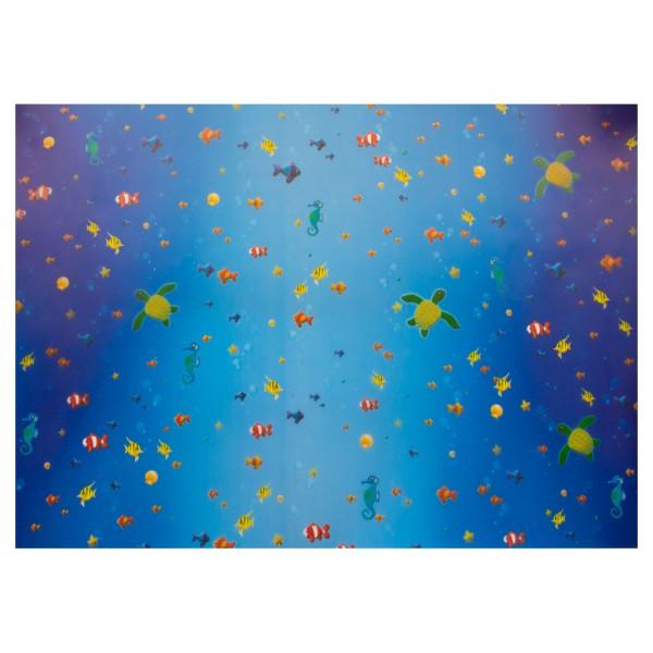 Transparentpapier 50,5x70cm 5 Rollen Unterwasserwelt 115g/m²