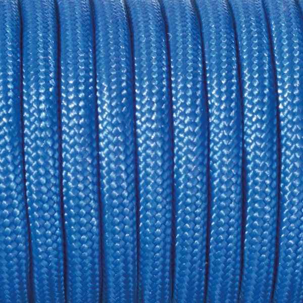Paracord-Garn rund 4mm 50m blau Makramee-Knüpfgarn, 60% Polypropylen, 40% Polyester