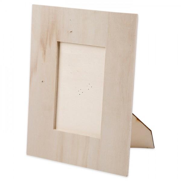 Bilderrahmen Sperrholz 16x20cm natur ohne Glasscheibe, Ausschnitt 75x110mm
