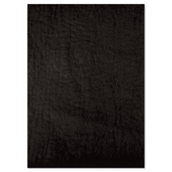 Naturfilzplatte ca. 5mm 50x70cm schwarz 100% Wolle