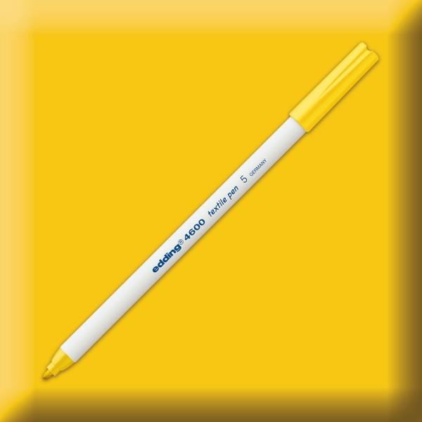 edding 4600 Textilstift gelb Strichbreite 1mm