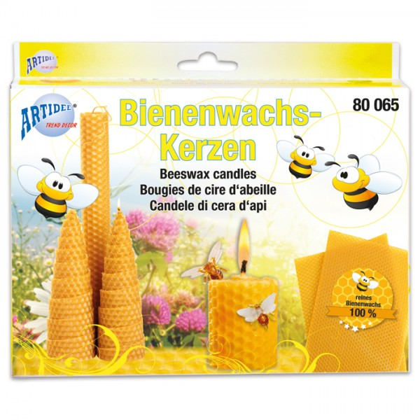 Bienenwachs-Kerzen-Set