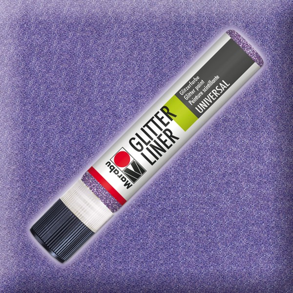 Marabu Glitter Liner 25ml lavendel universelle Effektfarbe