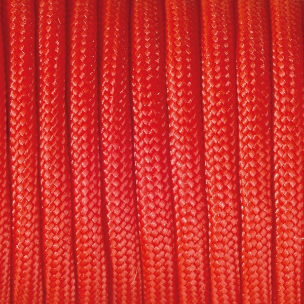 Paracord-Garn rund 4mm 4m rot Makramee-Knüpfgarn, 60% Polypropylen, 40% Polyester