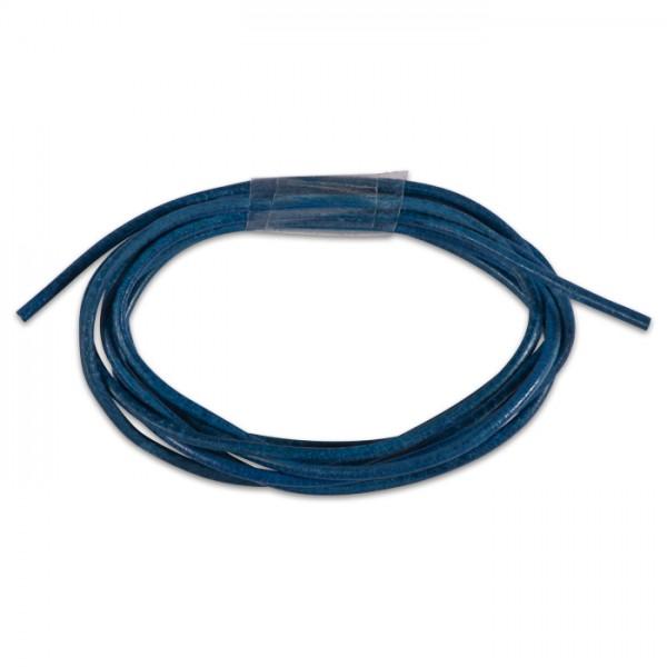 Ziegenlederriemchen rund 1,5mm 1m königsblau