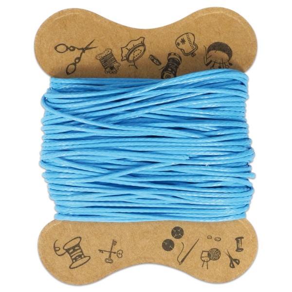 Kordel gewachst 0,5mm 10m hellblau 100% Baumwolle
