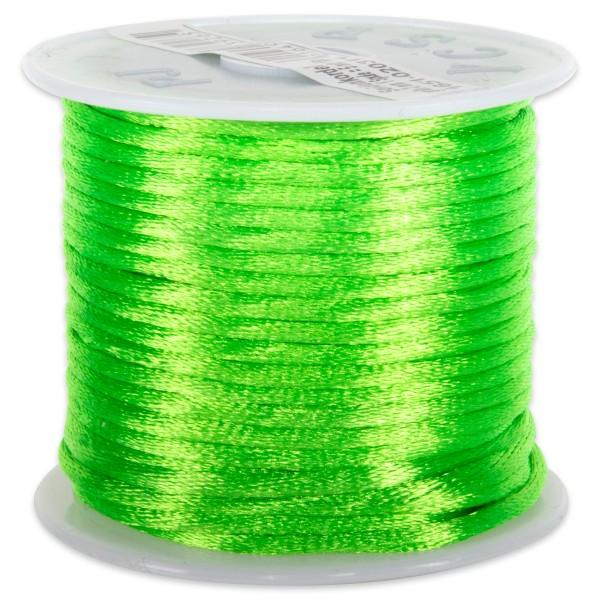 Seidenschnur glänzend 2mm 5m grün 100% Polyester