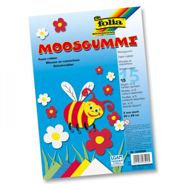 Moosgummi-Set 2mm 29x40cm 10 Bl./Farben