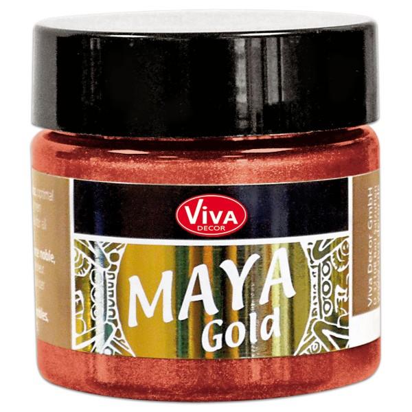 Maya-Gold Dekorfarbe flüssig 45ml feuerrot