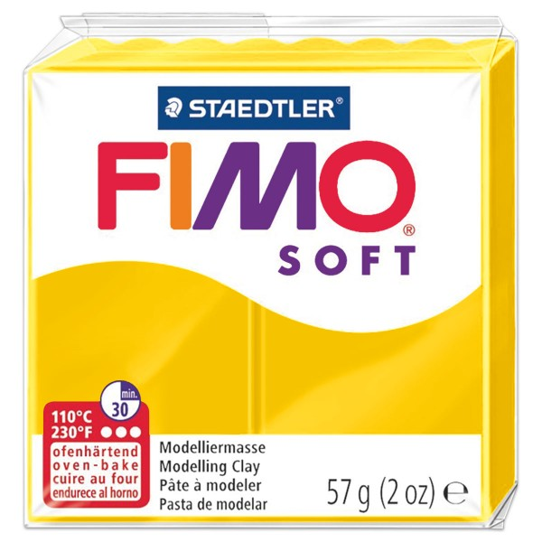 FIMO soft 55x55x15mm 57g sonnengelb ofenhärtende Modelliermasse