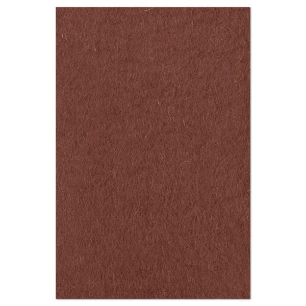 Wollfilz ca. 1-1,2mm 20x30cm braun 100% Wolle