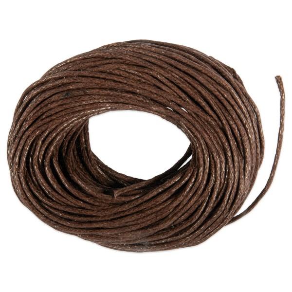 Kordel gewachst 1mm 10m dunkelbraun 50% Baumwolle, 50% Polyester