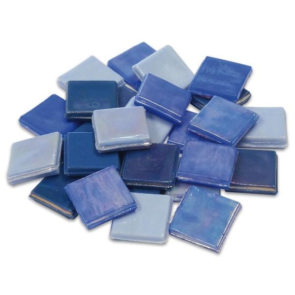 Eis Glas opak 15x15x4mm 200g blau mix ca. 100 St.