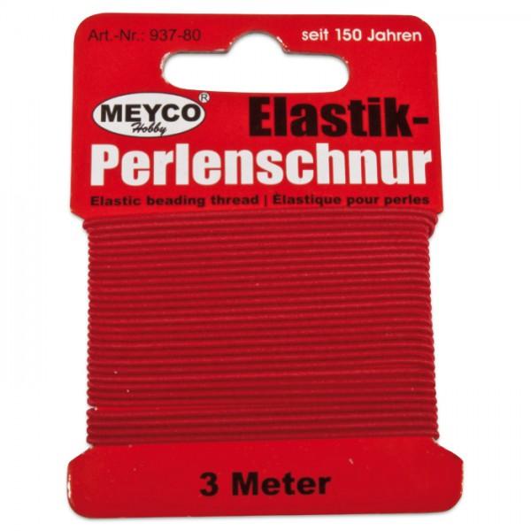 Elastik-Perlenschnur 0,9-1mm 3m rot 20% Polyester, 80% Elastodien (Latex)
