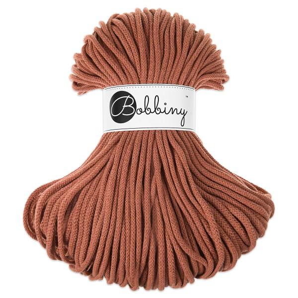 Bobbiny Rope-Garn Premium Ø5mm terracotta ca. 400g-500g, 100% Baumwolle, LL 100m, Nadel Nr. 10-12