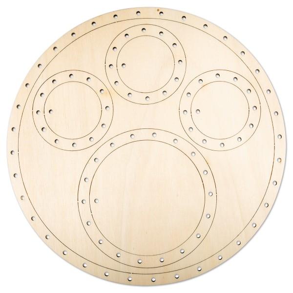 Fadenflechten Traumfänger-Mobile Kreise 9-teilig Holz, 4mm, Ø 19,2cm