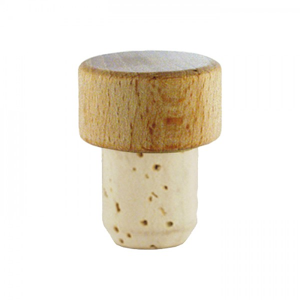 Korken mit Holzgriff Größe III/18mm natur