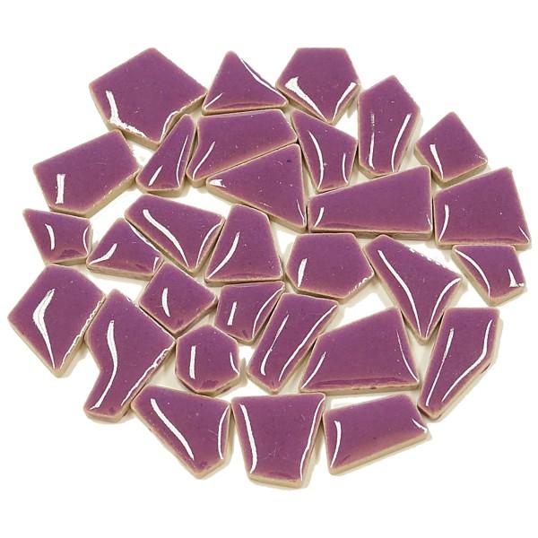 Flip-Keramik Mini 200g ca. 160 Steine flieder 5-20mm, ca. 4mm