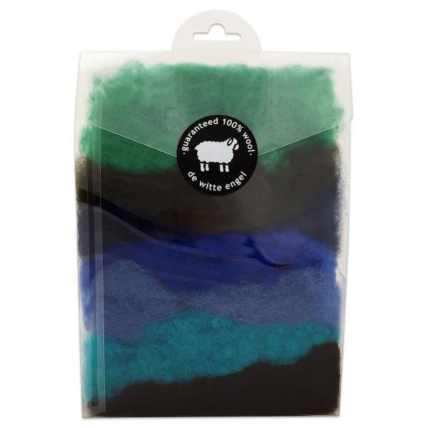 Wunderwolle 49g 7 Blau-/Grüntöne 100% Wolle