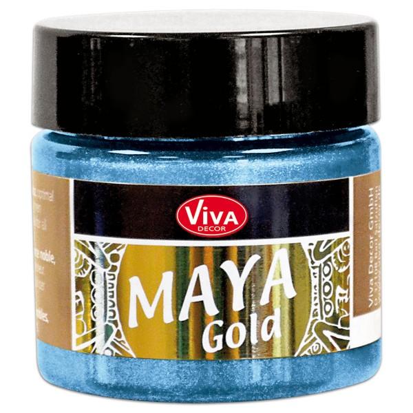 Maya-Gold Dekorfarbe flüssig 45ml eisblau