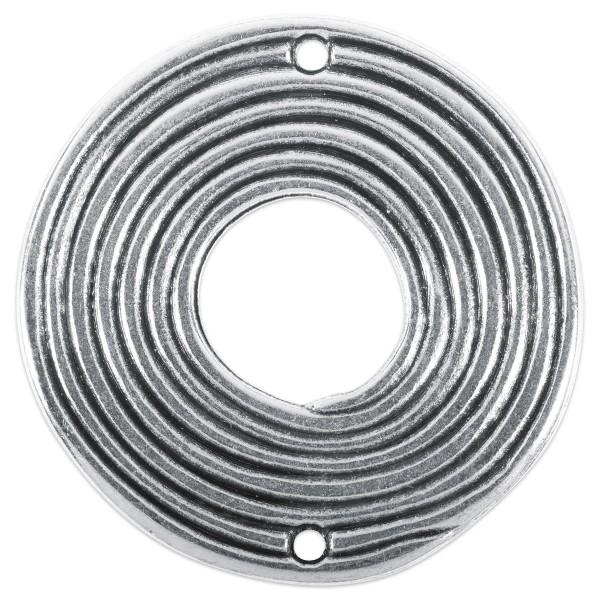 Metallperle Donut groß ca. 38mm altplatinfarben Lochgr. ca. 2mm