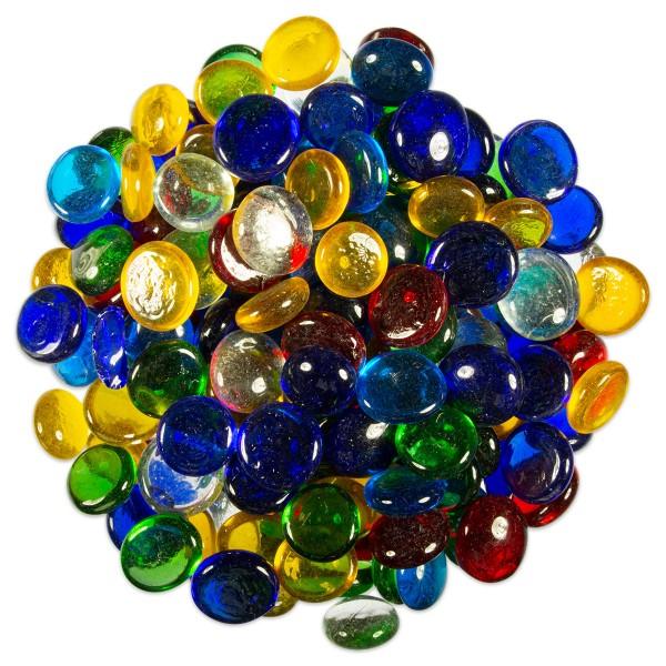 Glasnuggets Ø15-20mm 1kg bunt mix ca. 200-250 Steine