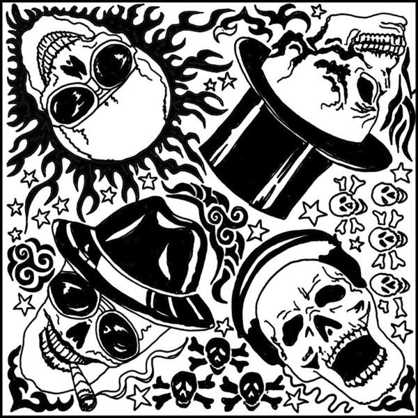 Texturmatte Gummi 9x9cm Skulls