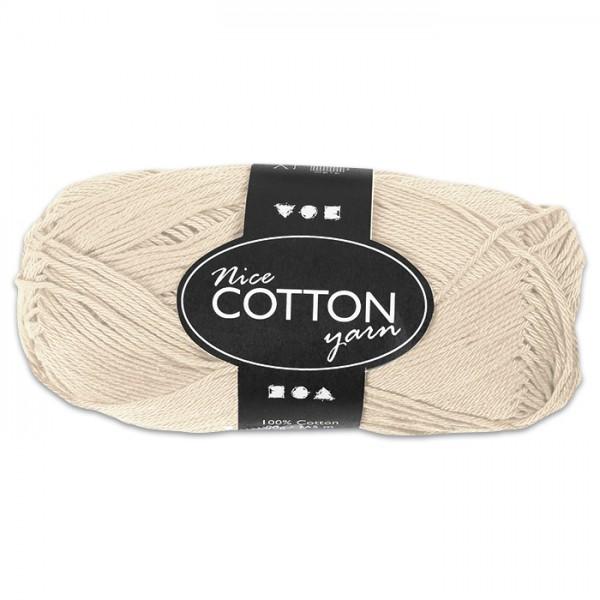 Baumwollgarn 50g beige 100% Baumwolle, für Nadel Nr. 3-3,5