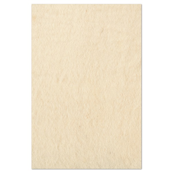 Filzplatte ca. 3-4mm 40x60cm wollweiß 100% Wolle