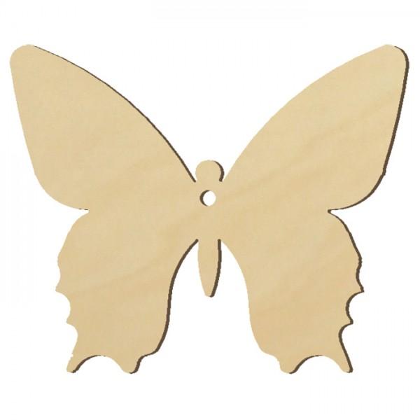 Holzmotiv Schmetterling 3mm stark ca. 6cm natur