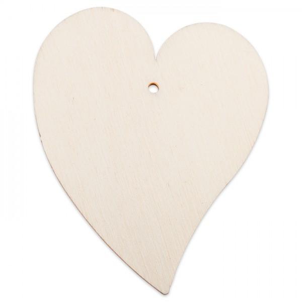 Holzmotiv schiefes Herz 3mm stark ca. 6cm natur