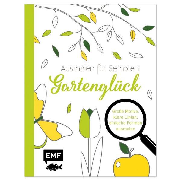 Buch - Ausmalen für Senioren - Gartenglück 64 Seiten, 21,9x16,7cm, Softcover