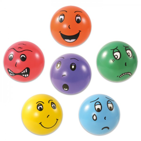 Emotionsbälle-Set Kunststoff ca. 15cm 6 St. bunt