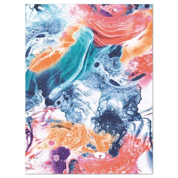 Decoupagepapier Farbwirbel von Décopatch, 30x40cm, 20g/m²