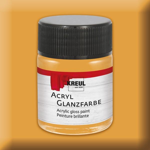 Acryl-Glanzfarbe 50ml ocker
