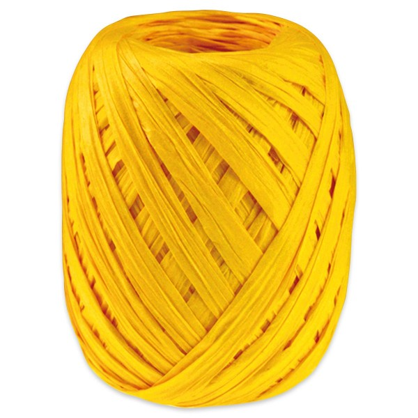 Paper-Raffia Bastband 10mm 30m gelb 100% Viskose
