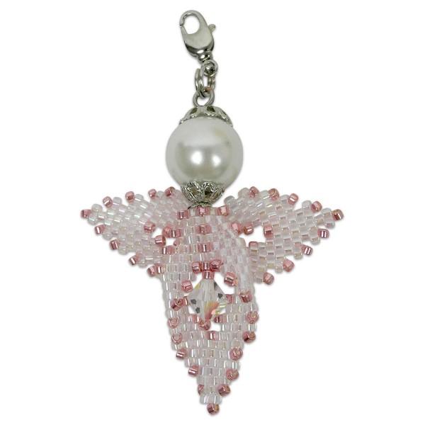 Kreativset Peyote Engel rosa-ton ca. 5cm, Perlen-Bastelset, Kunstoff/Metall
