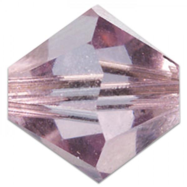 Glasschliffperlen 4mm 25 St. light amethyst Swarovski, Lochgr. ca. 0,9mm