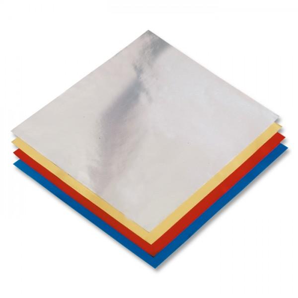 Alu-Faltblätter 10x10cm 50 Bl./5 Farben