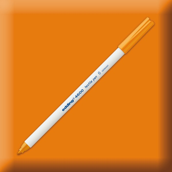 edding 4600 Textilstift orange Strichbreite 1mm