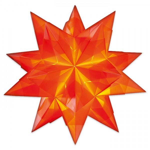 Bascetta-Stern ca. Ø 30cm 32 Bl. orange 20x20cm, Transparentpapier, 115g/m²