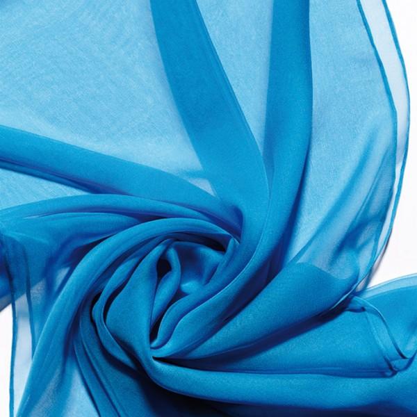 Schal Chiffon 3,5 55x180cm himmelblau 100% Seide